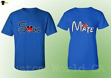 Couple Tee - Soul Mate Love Matching Tees - Great Couple Him and Hers - Royal