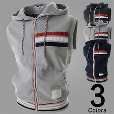 2015 Spring Mens Waistcoat Sport Vest Hooded Comfort Casual Outdoor Sleeveless