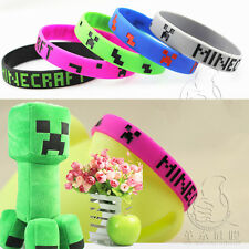 Fashion Silicone Rubber Bracelet Bangle Wristband For Minecraft Game Cosplay Toy