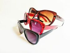 Cat Eye Women Sunglasses Red Brown or Black Vintage Style