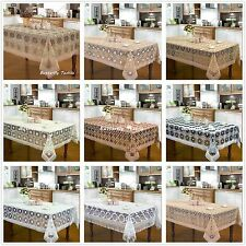 embroidered large tablecloth oblong oval round floral lace fabric customer order