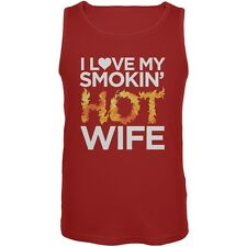 I Love My Smokin Hot Wife Red Mens Tank Top