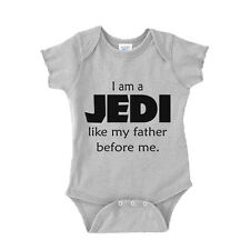I Am a Jedi Like My Father Before Me Star Wars Baby Onesie Boy Baby Shower Gift