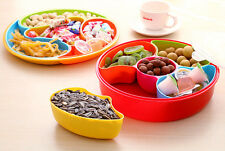 Candy Dried Fruit Tray Plastic Sealed Box Nuts Plate Snack Dish with Lid
