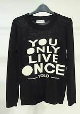 New Womens YOLO Jumper You Live Only Once Sweater Pullover Sweatshirt One Size