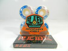 Alien Workshop 51mm Dyrdek Haring Skateboard Wheels + Bones Reds Bearings