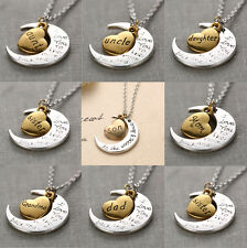 Family combination Lover Gift I LOVE YOU TO THE MOON AND BACK Pendant Necklace