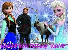 FROZEN !!  Edible Cake Topper Image Frosting Sheet - quarter and half size