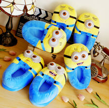 Warm Despicable Me 3D Minion Stewart &Jorge Plush Stuffed Cosplay Slippers