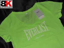 "Everlast T-Shirt Womens Lime ""Authentic V Neck"" BNWT"