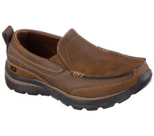 Skechers SUPERIOR-GAINS Boy's Casual Shoes BROWN 93892LCDB