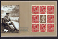 2014 THE GREAT WAR Machin Stamp Panes from Prestige Booklet DY11