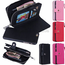 PU Leather Wristlet Cash Card Clutch Wallet Case Cover For iPhone 4S 5S 6 Plus