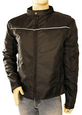 Vance Leather Men's Vented Textile Jacket with Reflective Piping VL1562