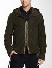 JOHN VARVATOS STAR USA size XL - Hooded Moss Jacket with Taping $298 msrp - NWT