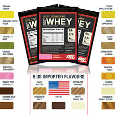 Optimum Nutrition Gold Standard 100% Whey Protein Samples inc US White Chocolate