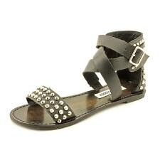 Steve Madden Buddies Womens Open Toe Faux Leather Gladiator Sandals Shoes