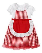 NWT Gymboree HALLOWEEN SHOP Little Red Riding Hood Costume Red Dress Small Med.