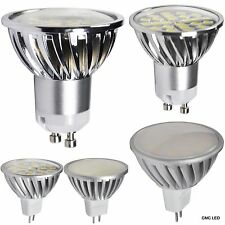 LED Spotlight 8pcs GU10 MR16 SMD Light Lamp Bulb 3W 5W 7W DC12V AC100-240V