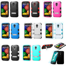 TUFF Hard Snap On Hybrid Protector Phone Case For Motorola Moto G (2nd Gen)