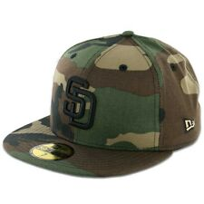 San Diego PADRES WC BK Camouflage Camo Black New Era 59Fifty MLB Fitted Hats Cap