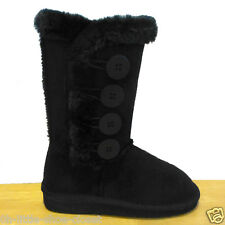 Youth Black Dress Flat Eskimo Walking Boots Girl's Size 13,1,2,3,4