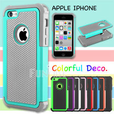 Rugged non-slip Impact Rubber Matte Black or Grey Hard Case Cover for iPhone 5C