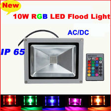 DC12V/AC LED Flood light Floodlight Spotlight Garden Lamp With Remote Waterproof