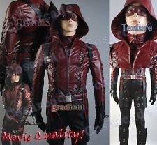 Green Arrow Red S3 Roy Harper Arsenal Outfit Cosplay Costume Suit Top Quality!