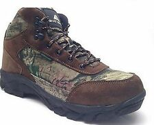OZARK TRAIL MENS MID HIKER HIKING BOOTS SHOES CAMO/ LEATHER WATERPROOF INSULATED