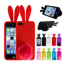 CUTE Soft Bunny Rabbit TPU Back Protector Phone Cover Case Skin For iPhone 5/5S