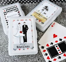 24 Personalized Custom Elite Wedding Bridal Shower Playing Card Party Favors