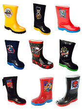 NEW BOYS OFFICIAL CHARACTER WELLIES WELLINGTON RAIN SNOW BOOTS KIDS UK SIZE 4-2