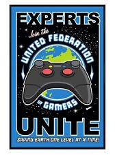 New Gloss Black Framed United Federation of Gamers Poster