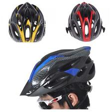 New Sports Bike Bicycle Cycling Safety Helmet with Visor Carbon Fiber For Adult