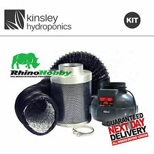 Rhino Fan & Hobby Filter Kit 4 5 6 8 10 + 5m Combi Ducting & Clips Hydroponics