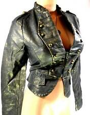 MILITARY LEATHER LOOK JACKET-10/12/14/16s Victorian STEAMPUNK Ringmaster NEW