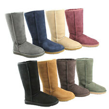 Ugg Australia Womens Classic Tall Regular Suede Snow Boots
