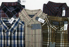 NWT Roundtree & Yorke Douro Soft Portuguese Flannel Plaid Long Sleeve Shirt B/T