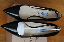 NIB New PRADA 1I619D LOW HEEL PUMPS Shoes Black Sizes 35-39 $ 650+tax