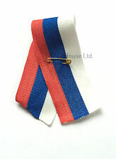 Moscow Putin Russian Patriotic Victory Flag Tricolor Medal Ribbon Pin Badge