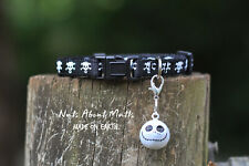 Cat collar Skulls n Crossbones b&w with catface buckle 3 sizes FREE SHIPPING!