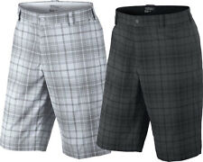 Nike Golf Tartan Plaid Flat Front Golf Shorts Dri-Fit 509182 Mens CLOSEOUT NWT