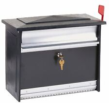 Extra Large Locking Security Wall Mount Mailbox Drop Box Keyed Outdoor