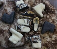 Mens Womens Wool Boots & Slippers sheep Sheepskin size 3 4 5 6 7 8 9 10 11 12 13