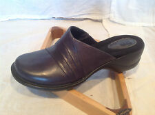 CLARKS Womens AZLYN DREAM DRESS SHOES Leather Slip-On NAVY BLUE NEW