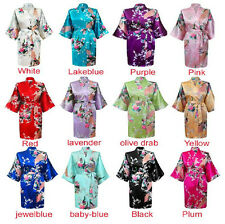 New Style Chinese Women's Kimono Robe Gown Clubs With Obi Evening Nightwear