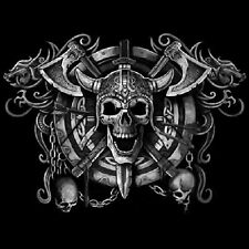 NEU, Biker, Chopper, Fantasy, Gothic T-Shirt, Viking Skull, XL - 6XL