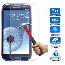 NEW FOR SAMSUNG GALAXY S3 BALLISTIC TEMPERED GLASS SCREEN PROTECTOR GUARD 9H