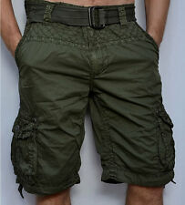 Affliction Black Premium - OBSERVATION - Men's Cargo Shorts - Military Green